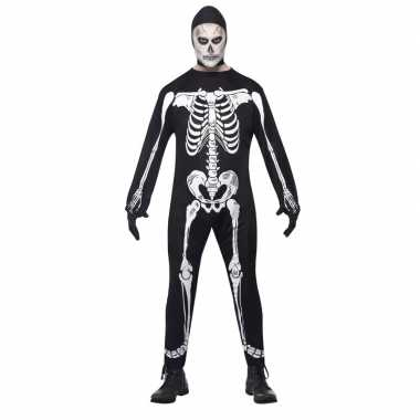 Halloween skelet pak volwassenen