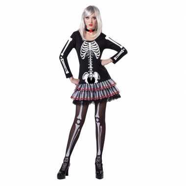 Halloween skelet verkleed pak dames