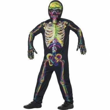 Oplichtende skelet pak kinderen